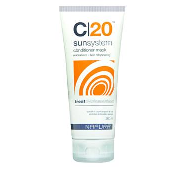 C20 SunSystem Летняя серия для натуральных и окрашенных волос. Маска-кондиционер